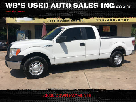 2012 Ford F-150 for sale at WB'S USED AUTO SALES INC in Houston TX