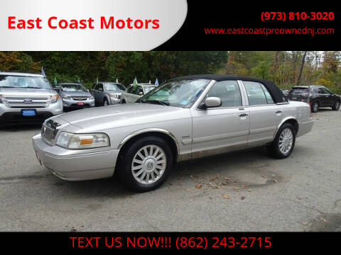 2009 Mercury Grand Marquis for sale at East Coast Motors in Lake Hopatcong NJ