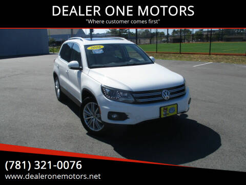 2016 Volkswagen Tiguan for sale at DEALER ONE MOTORS in Malden MA