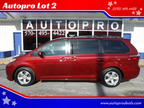 2015 Toyota Sienna for sale at Autopro Lot 2 in Sunbury PA