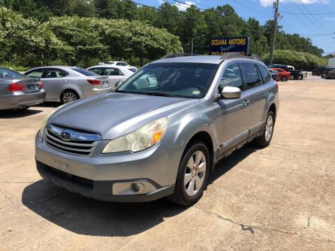 2011 Subaru Outback for sale at Oceana Motors in Virginia Beach VA