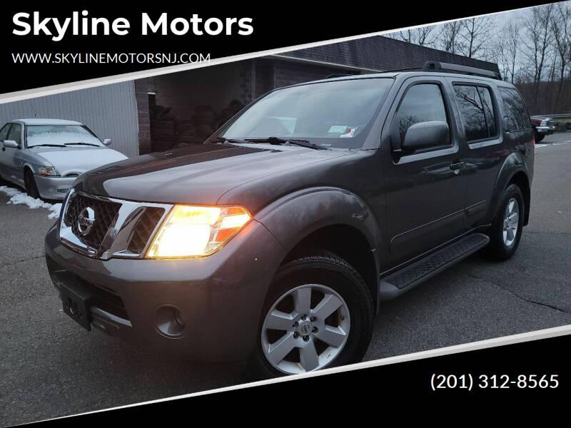 2008 Nissan Pathfinder for sale at Skyline Motors in Ringwood NJ