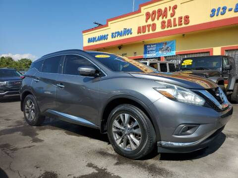 2015 Nissan Murano for sale at Popas Auto Sales in Detroit MI