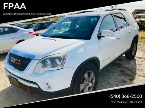 2007 GMC Acadia for sale at FPAA in Fredericksburg VA
