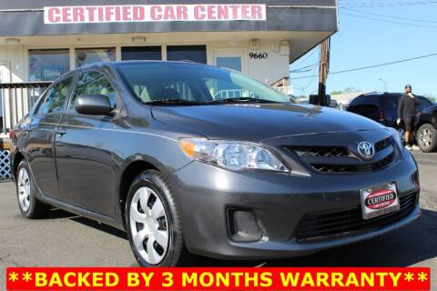 2012 Toyota Corolla for sale at CERTIFIED CAR CENTER in Fairfax VA