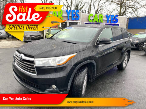 2015 Toyota Highlander for sale at Car Yes Auto Sales in Baltimore MD