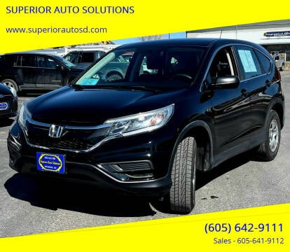 2015 Honda CR-V for sale at SUPERIOR AUTO SOLUTIONS in Spearfish SD