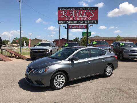 2019 Nissan Sentra for sale at RAUL'S TRUCK & AUTO SALES, INC in Oklahoma City OK