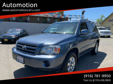 2005 Toyota Highlander for sale at Automotion in Roseville CA