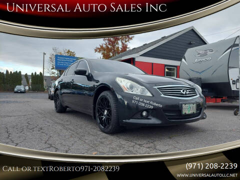 2012 Infiniti G25 Sedan for sale at Universal Auto Sales Inc in Salem OR