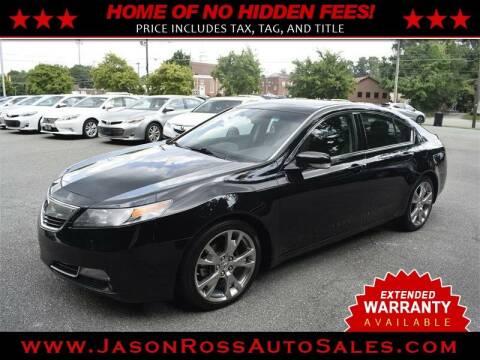 2013 Acura TL for sale at Jason Ross Auto Sales in Burlington NC