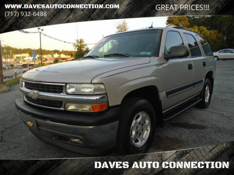 2005 Chevrolet Tahoe for sale at DAVES AUTO CONNECTION in Etters PA