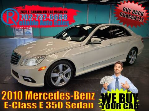 2010 Mercedes-Benz E-Class for sale at Reliable Auto Sales in Las Vegas NV