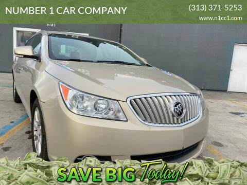 2012 Buick LaCrosse for sale at NUMBER 1 CAR COMPANY in Detroit MI