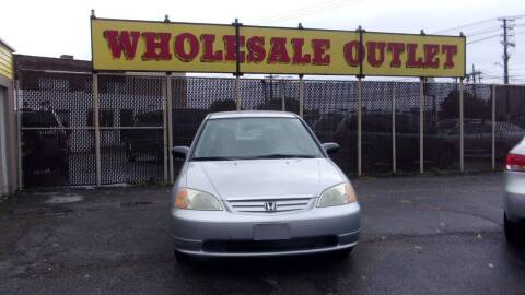 2003 Honda Civic for sale at LONG BROTHERS CAR COMPANY in Cleveland OH