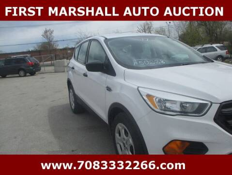 2017 Ford Escape for sale at First Marshall Auto Auction in Harvey IL