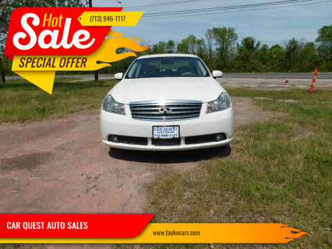 2007 Infiniti M35 for sale at CAR QUEST AUTO SALES in Houston TX