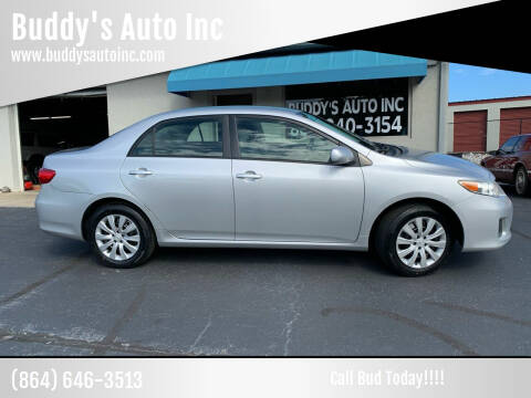 2012 Toyota Corolla for sale at Buddy's Auto Inc in Pendleton, SC