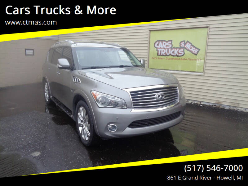 2014 Infiniti QX80 for sale at Cars Trucks & More in Howell MI