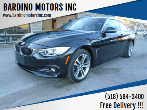 2017 BMW 4 Series for sale at BARDINO MOTORS INC in Saratoga Springs NY