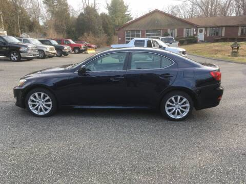 2007 Lexus IS 250 for sale at Lou Rivers Used Cars in Palmer MA