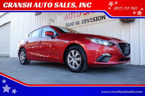 2015 Mazda MAZDA3 for sale at CRANSH AUTO SALES, INC in Arlington TX