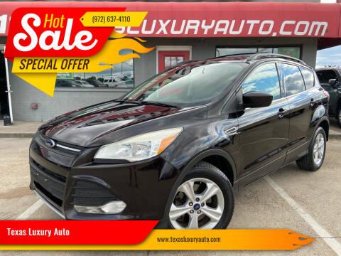 2013 Ford Escape for sale at Texas Luxury Auto in Cedar Hill TX