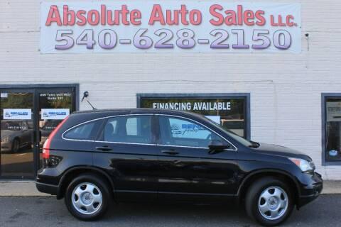 2011 Honda CR-V for sale at Absolute Auto Sales in Fredericksburg VA