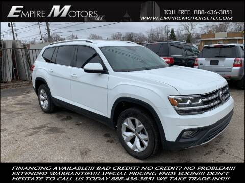 2018 Volkswagen Atlas for sale at Empire Motors LTD in Cleveland OH