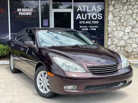 2004 Lexus ES 330 for sale at ATLAS AUTOS in Marietta GA