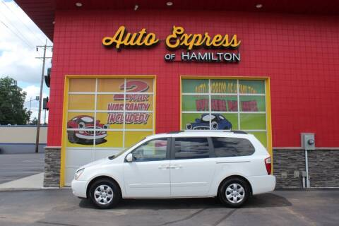 2009 Kia Sedona for sale at AUTO EXPRESS OF HAMILTON LLC in Hamilton OH