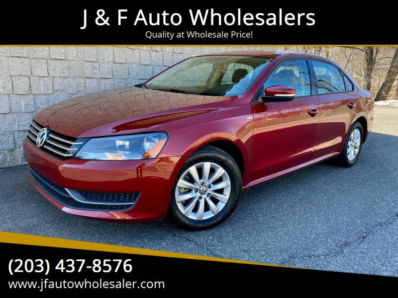 2015 Volkswagen Passat for sale at J & F Auto Wholesalers in Waterbury CT