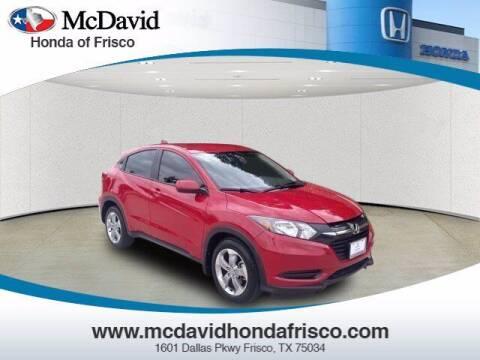 2017 Honda HR-V for sale at DAVID McDAVID HONDA OF IRVING in Irving TX