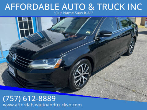 2017 Volkswagen Jetta for sale at AFFORDABLE AUTO & TRUCK INC in Virginia Beach VA
