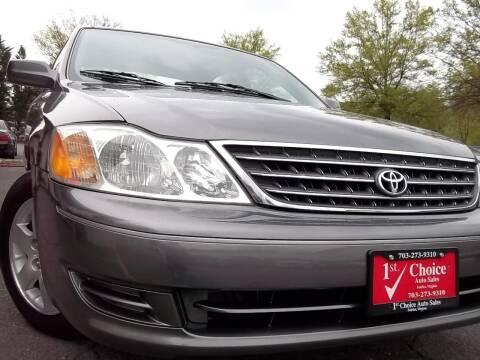 2003 Toyota Avalon for sale at 1st Choice Auto Sales in Fairfax VA
