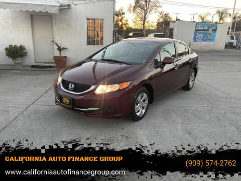 2013 Honda Civic for sale at CALIFORNIA AUTO FINANCE GROUP in Fontana CA