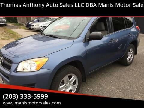 2011 Toyota RAV4 for sale at Thomas Anthony Auto Sales LLC DBA Manis Motor Sale in Bridgeport CT
