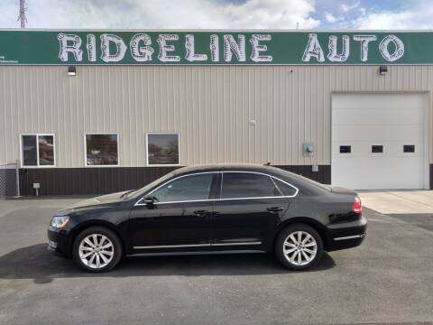 2012 Volkswagen Passat for sale at RIDGELINE AUTO in Chubbuck ID