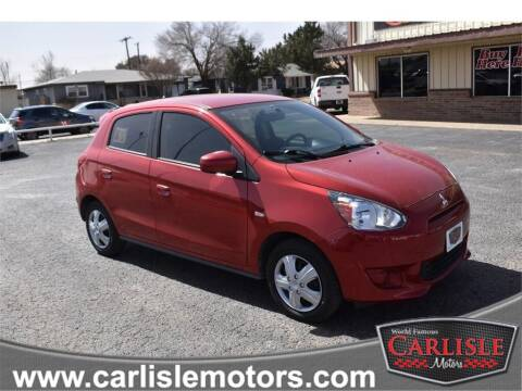 2015 Mitsubishi Mirage for sale at Carlisle Motors in Lubbock TX