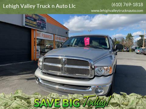 2002 Dodge Ram Pickup 1500 for sale at Lehigh Valley Truck n Auto LLC. in Schnecksville PA