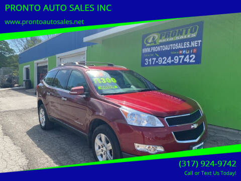 2009 Chevrolet Traverse for sale at PRONTO AUTO SALES INC in Indianapolis IN