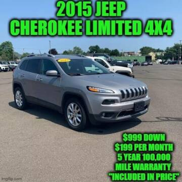 2015 Jeep Cherokee for sale at D&D Auto Sales, LLC in Rowley MA