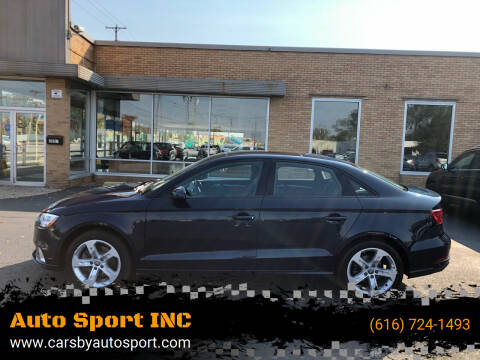 2017 Audi A3 for sale at Auto Sport INC in Grand Rapids MI