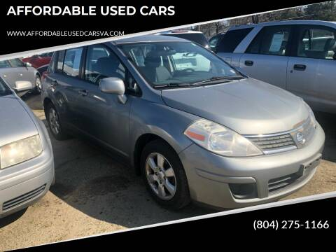 2007 Nissan Versa for sale at AFFORDABLE USED CARS in Richmond VA