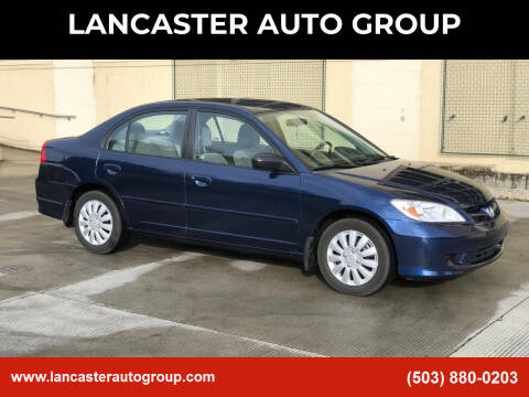 2004 Honda Civic for sale at LANCASTER AUTO GROUP in Portland OR