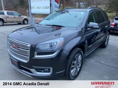 2014 GMC Acadia for sale at Warren Auto Sales in Oxford NY