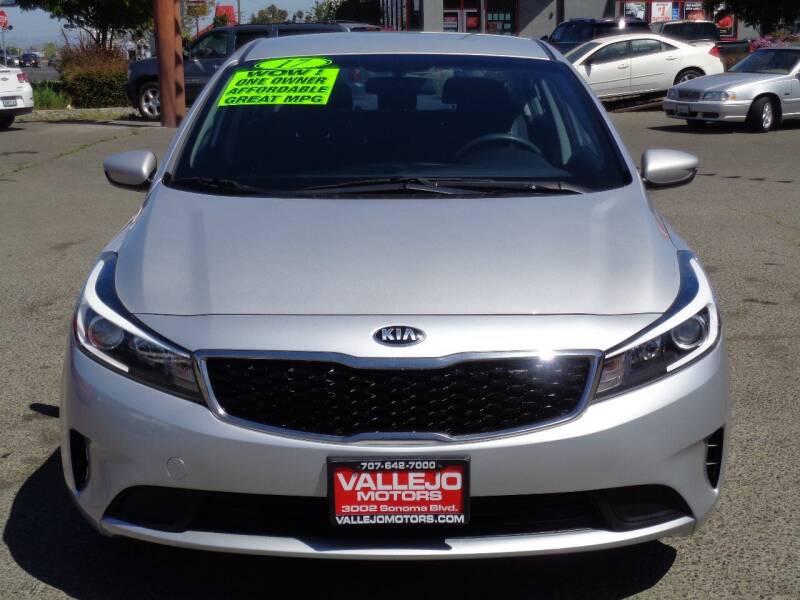 2017 Kia Forte for sale at Vallejo Motors in Vallejo CA