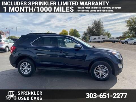 2017 Chevrolet Equinox for sale at Sprinkler Used Cars in Longmont CO