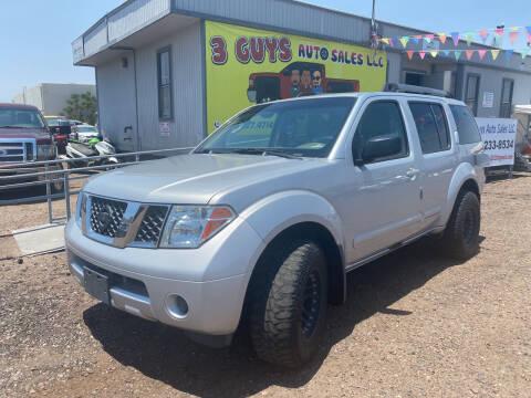 2005 Nissan Pathfinder for sale at 3 Guys Auto Sales LLC in Phoenix AZ