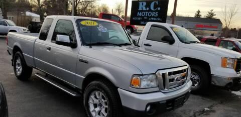 2011 Ford Ranger for sale at R C Motors in Lunenburg MA